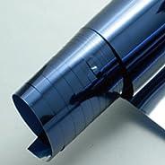 窓ガラス フィルム 断熱 UV 99%カット 6色選択 窓 シート ミラー 日よけ ガラスフィルム 遮熱 装飾 曇りガラス 飛散防止 紫外線 カット 日焼け 防犯 地震対策 サンルーム (ミラーブルー, 1.52m×15m)