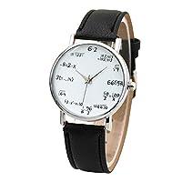 Abeillo 数学式 アナログクォーツPU レザー腕時計 レディーギフト9色の