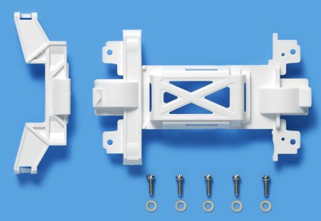 ミニ四駆ステーション商品 95325 MSシャーシ用 強化ギヤカバー(ホワイト)ミニ四駆ステーション