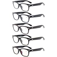 Eyekepper Retro Vintage Spring Temple Reading Glasses 5pcs +2.5