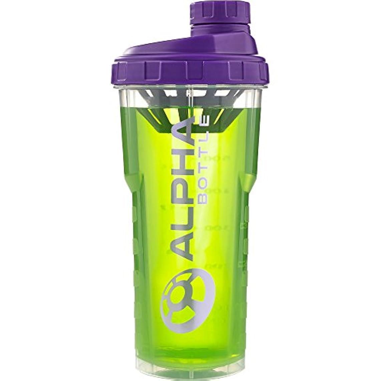 シール踏み台心理的にアルファボトル 25オンス BPAまたはDEHP不使用プロテインシェイカー-パープル