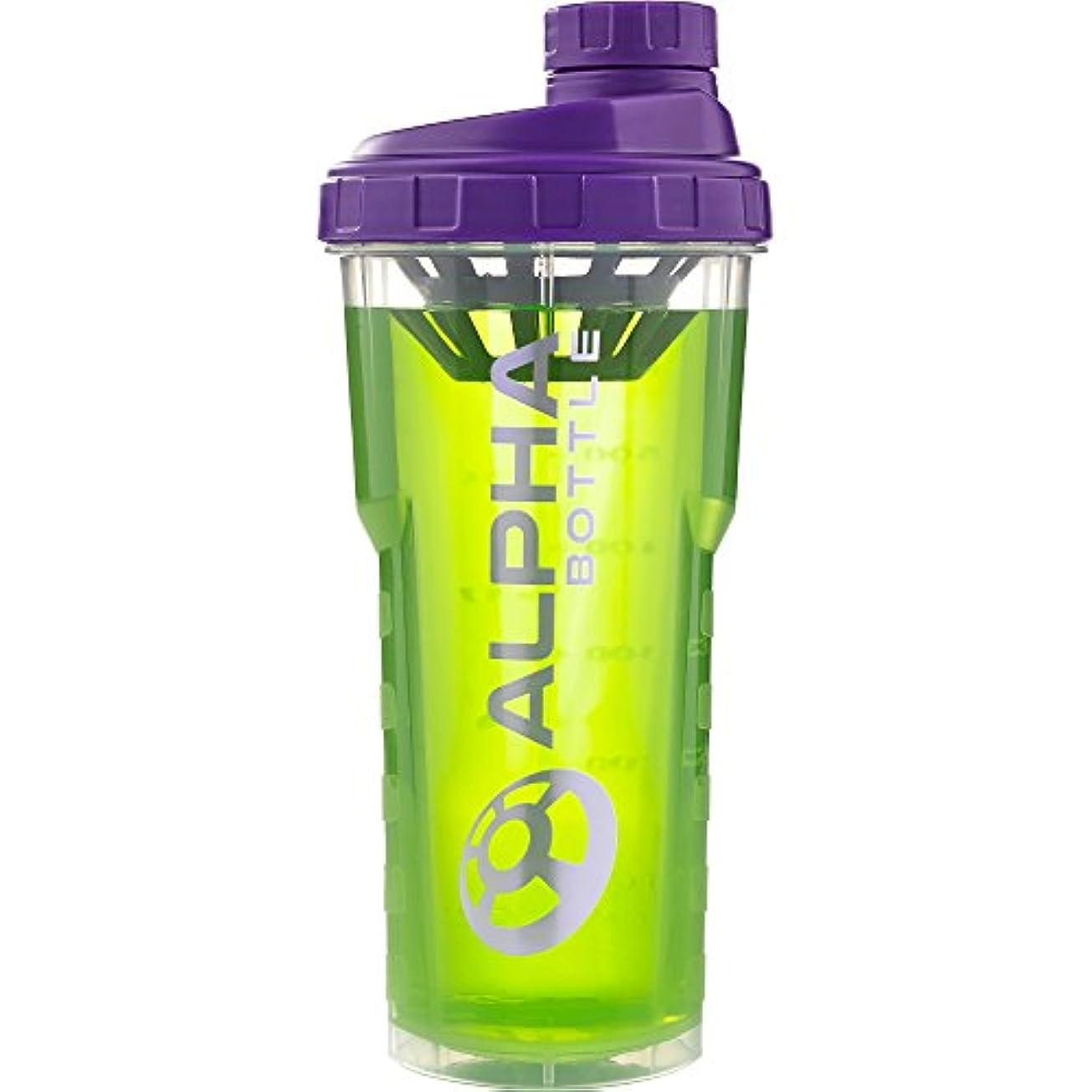 プレミアム無線福祉アルファボトル 25オンス BPAまたはDEHP不使用プロテインシェイカー-パープル