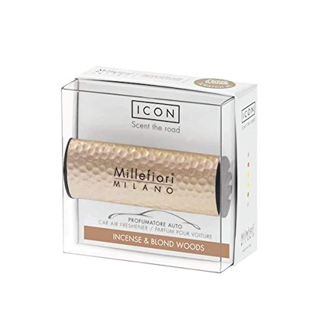 最初適応する買い手ミッレフィオーリ(Millefiori) カーエアフレッシュナー ICON HAMMERED METAL 41 - インセンス&ブロンドウッズ(METAL 41 - INCENSE & BLOND WOODS) [並行輸入品]
