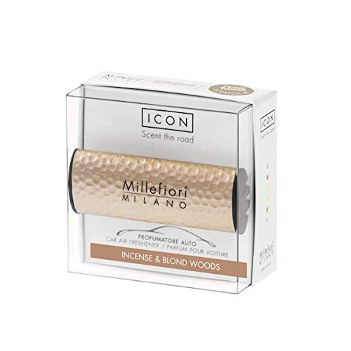 以下やけど粘性のミッレフィオーリ(Millefiori) カーエアフレッシュナー ICON HAMMERED METAL 41 - インセンス&ブロンドウッズ(METAL 41 - INCENSE & BLOND WOODS) [並行輸入品]