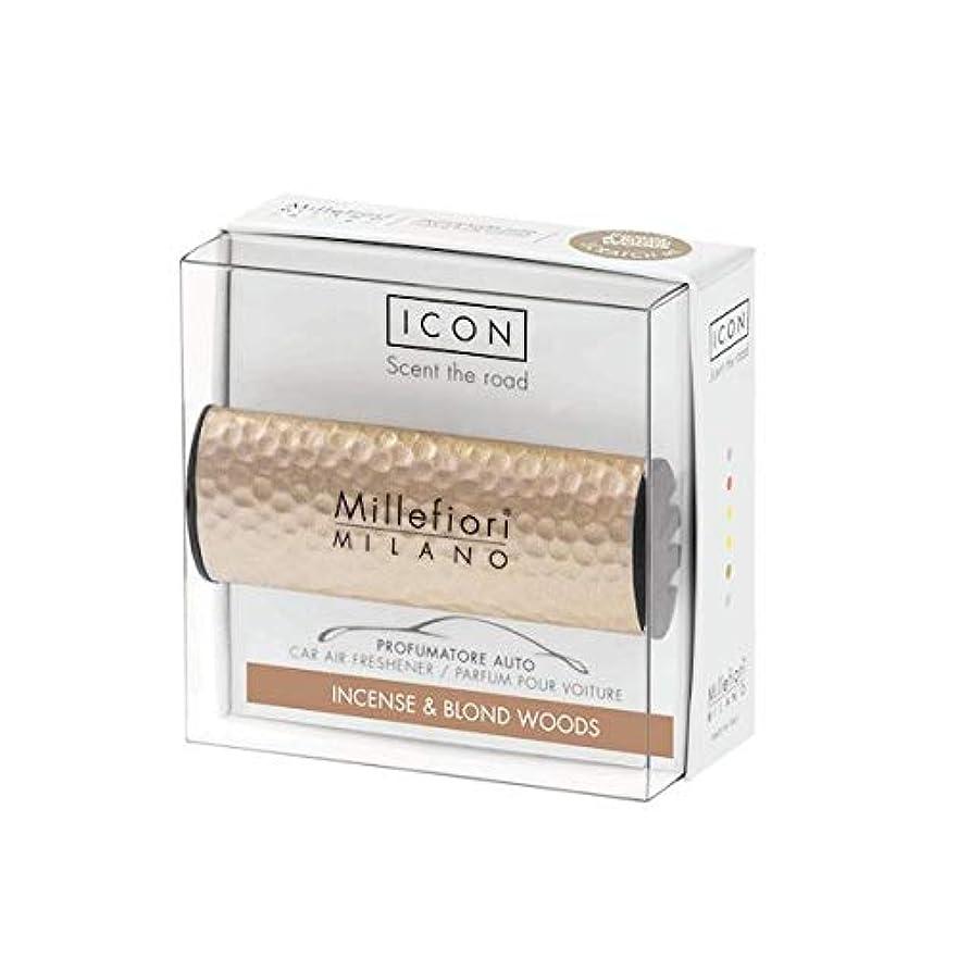 コミット第四麺ミッレフィオーリ(Millefiori) カーエアフレッシュナー ICON HAMMERED METAL 41 - インセンス&ブロンドウッズ(METAL 41 - INCENSE & BLOND WOODS) [並行輸入品]