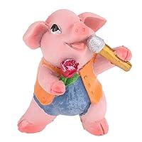 SM SunniMix 動物の豚 生き生き 装飾的な 園芸 素晴らしい 工芸品 全8種 - 歌う豚