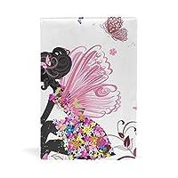 花の妖精 ブックカバー 文庫 a5 皮革 おしゃれ 文庫本カバー 資料 収納入れ オフィス用品 読書 雑貨 プレゼント耐久性に優れ