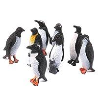 SONONIA プラスチック製 おもちゃ ペンギン 人形  8個 贈り物(ブラック&ホワイト)