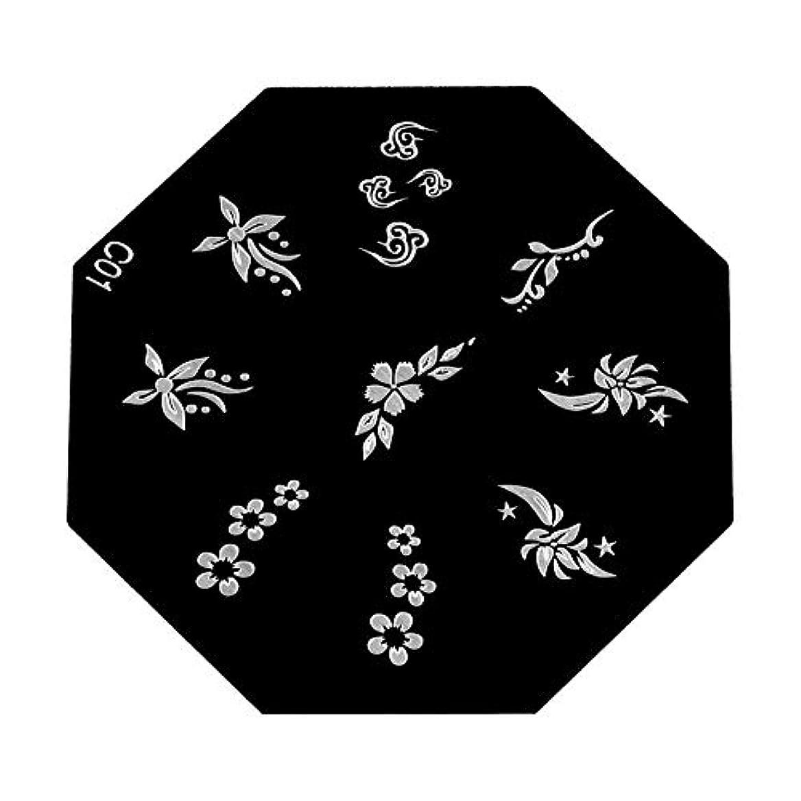 伝えるピクニックをするきょうだいYuyte 6種類のポータブル高品質ネイルアートスタンピングプレート-DIYマニキュア印刷イメージテンプレート(05)