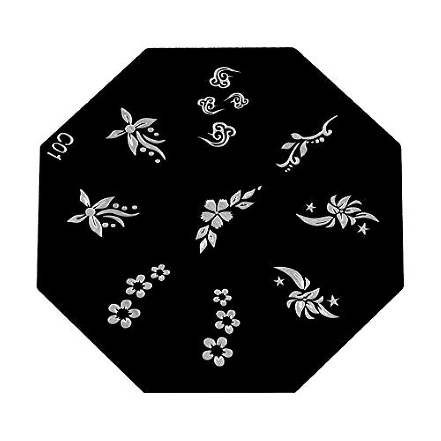 手当傾くブロンズYuyte 6種類のポータブル高品質ネイルアートスタンピングプレート-DIYマニキュア印刷イメージテンプレート(05)