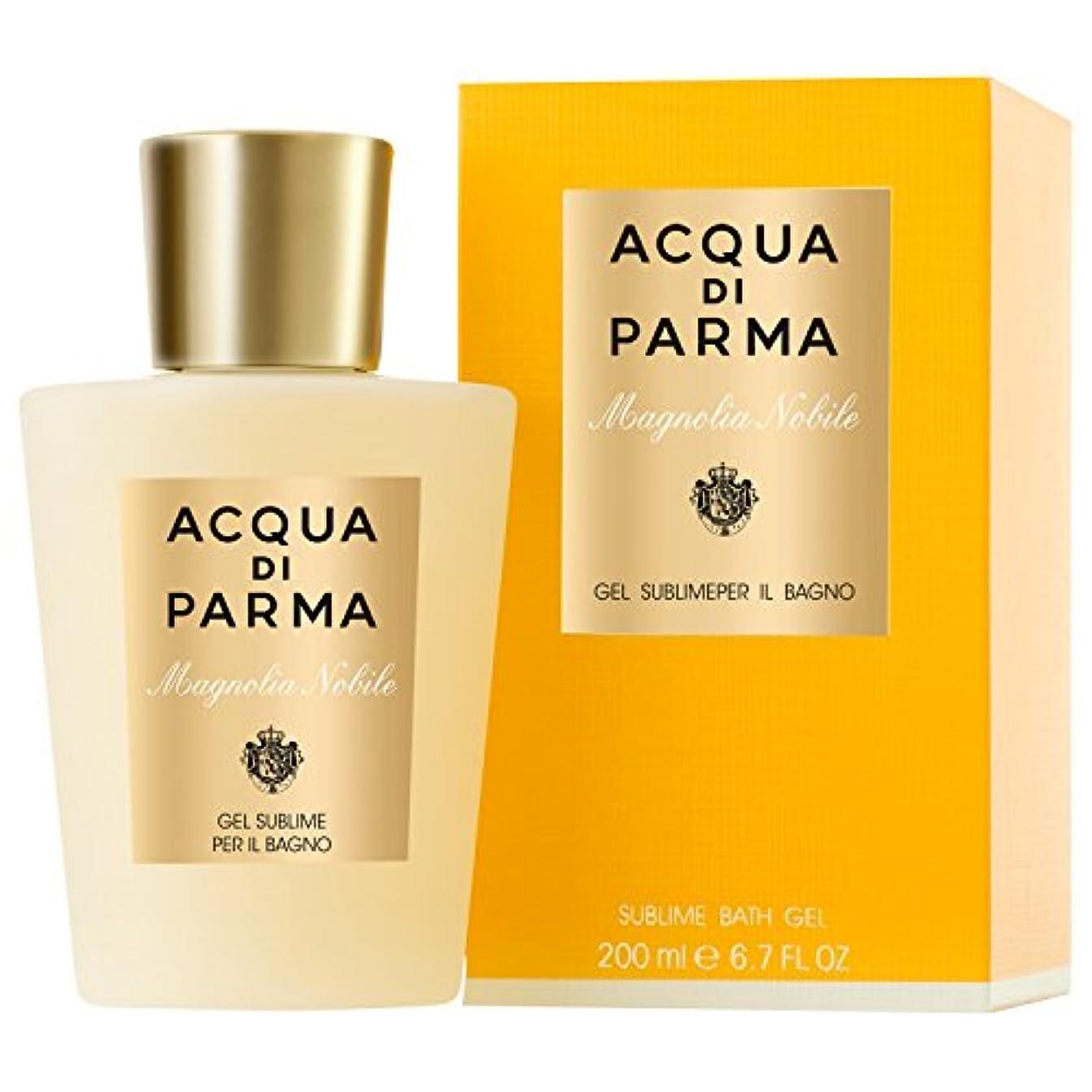 かかわらず禁輸銅アクア?ディ?パルマモクレンノビルシャワージェル200ミリリットル (Acqua di Parma) - Acqua di Parma Magnolia Nobile Shower Gel 200ml [並行輸入品]