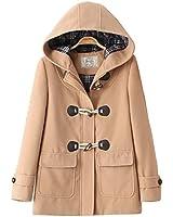 ダッフルコート レディース 女の子 コート アウターコート ウールフード付き 大きいサイズ 学生制服 Sunny Corner