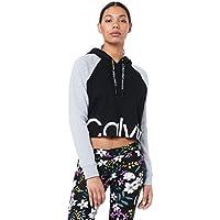 Calvin Klein Women's Logo Raglan Crop Pullover Hoodie