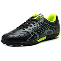 Yong Ding Teens Football Boots Crushing Cleats Flexible Football Shoes with Leather Upper for Youth Playing Soccer