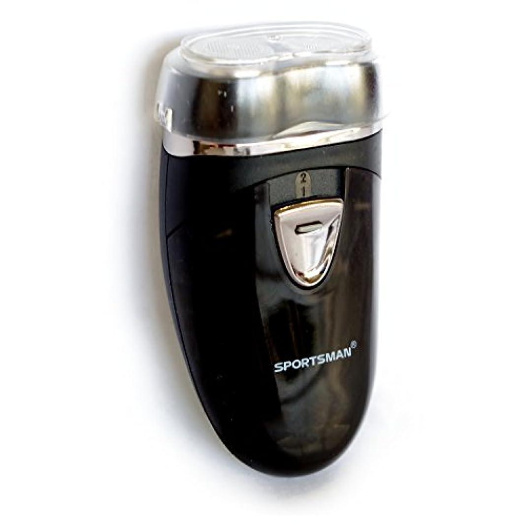 写真の覗くタヒチTPOS メンズシェーバー 髭剃り 乾電池式 携帯用 電動シェーバー