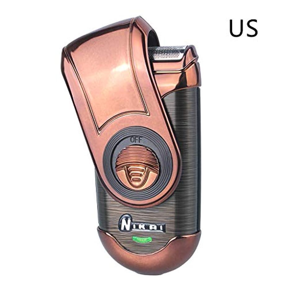機械的敬意を表する正午YHSUNN 充電式シェーバー強力な電気シェーバーポータブル往復カミソリ充電シングルメッシュ電気かみそり用男性フェイスケア多機能シェービング