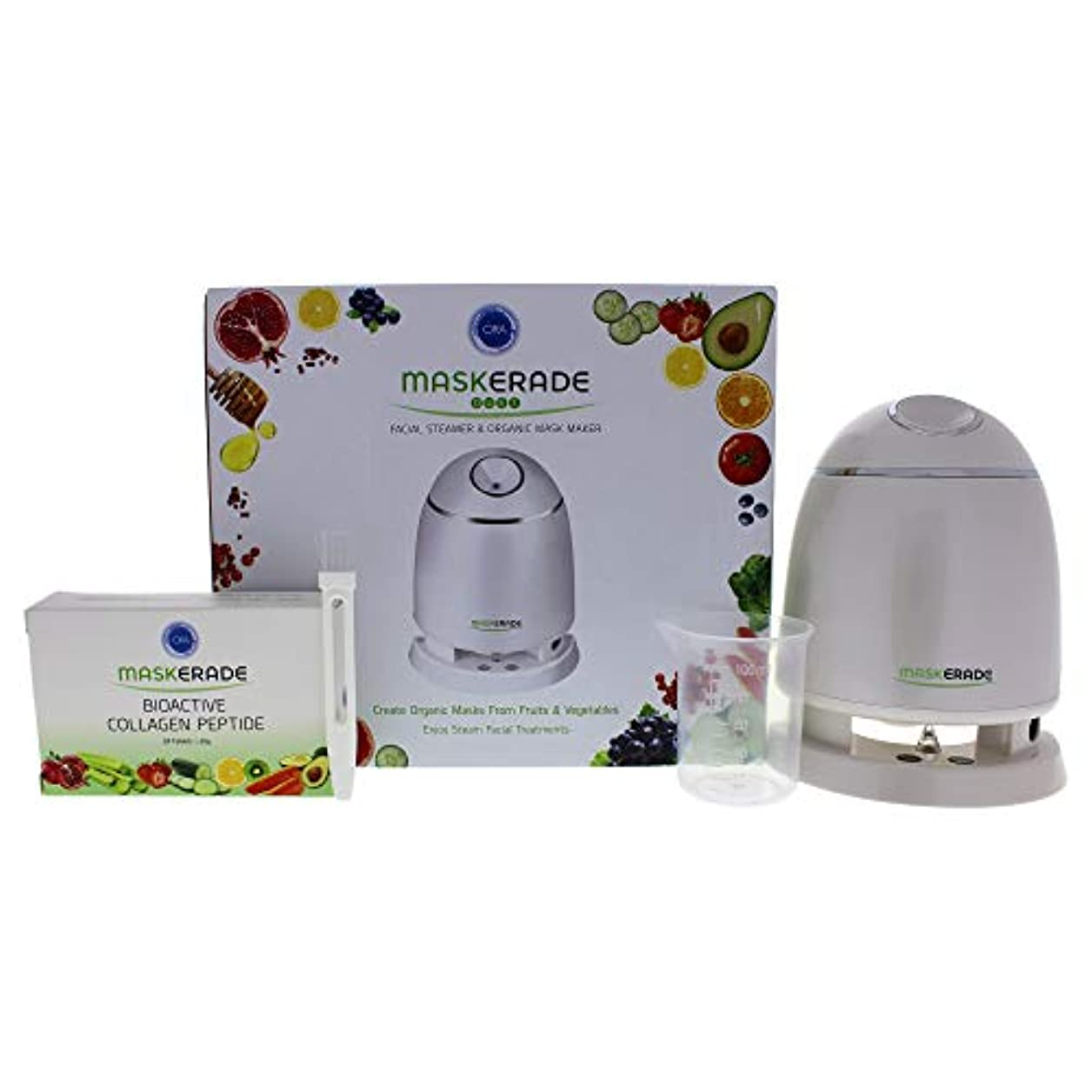Maskerade Duet Facial Steamer and Organic Mask Maker - White