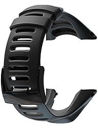 SUUNTO ラバー ベルト スント 腕時計 バンド ストラップ AMBIT1 AMBIT2 AMBIT3 対応 (ブラックバックル)