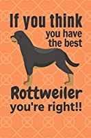 If you think you have the best Rottweiler you're right!!: For Rottweiler Dog Fans