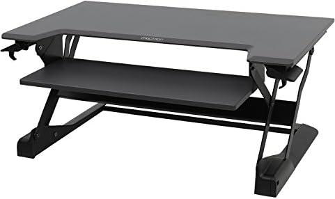 エルゴトロン WorkFit-TL 座位・立位両用 スタンディングデスク ブラック 33-406-085