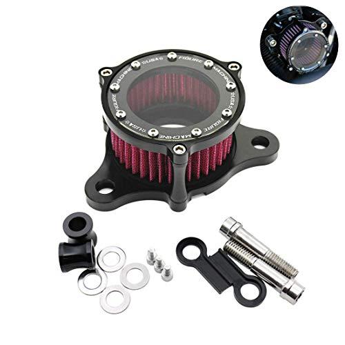 Yiteng ハーレー xl883 / 1200 X48用 透明 オートバイ エアフィルター クリーナー キット
