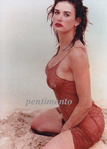 2Lサイズ写真、デミ・ムーア、浜辺の一枚