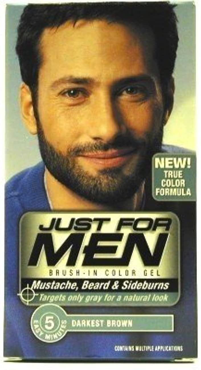 効果的気怠いラメJust For Men (Inuevo!) Beard & Mustache Color Gel Dark Brown/Black (Case of 6) (並行輸入品)