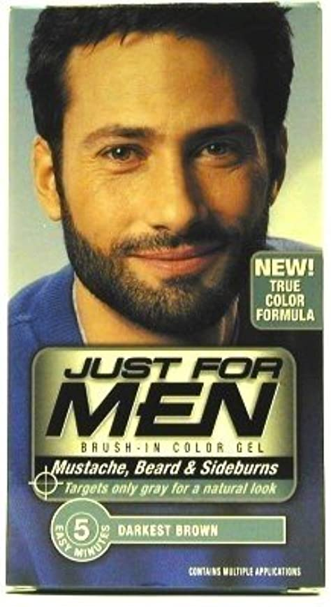うまくいけば承知しましたアーティストJust For Men (Inuevo!) Beard & Mustache Color Gel Dark Brown/Black (Case of 6) (並行輸入品)