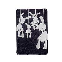 NeatClean iPad Air10.5ケース 2017 2018 iPad 9.7インチ 極薄 ケース 三つ折スタンド iPad mini4ケース mini3ケース mini2ケース miniケース Air2ケース Airケース pro9.7ケース por10.5 モデル アイパッド おしゃれ puレザー case カバー 超軽量 人間失格 悲し 黒闇 白黒 キャラクター (ipad mini4, A)