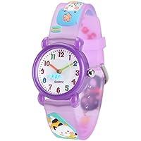 Wolfteeth Grade School Girls Analog Wrist Watch Water Resistant Sport Watch, School Day Gift, 3D Kitten Watchband 3073