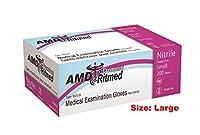 AMD Ritmed 9970ニトリル非滅菌試験手袋、粉末ゼロ、200/ BX M