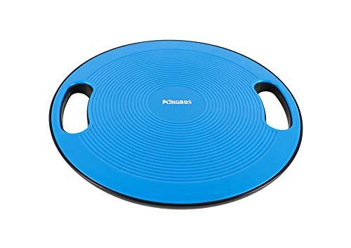 KINGBOS バランスボード 体幹トレーニング 滑り止め 360度回転 直径40cm 運動 健康 リハビリ ケガ予防