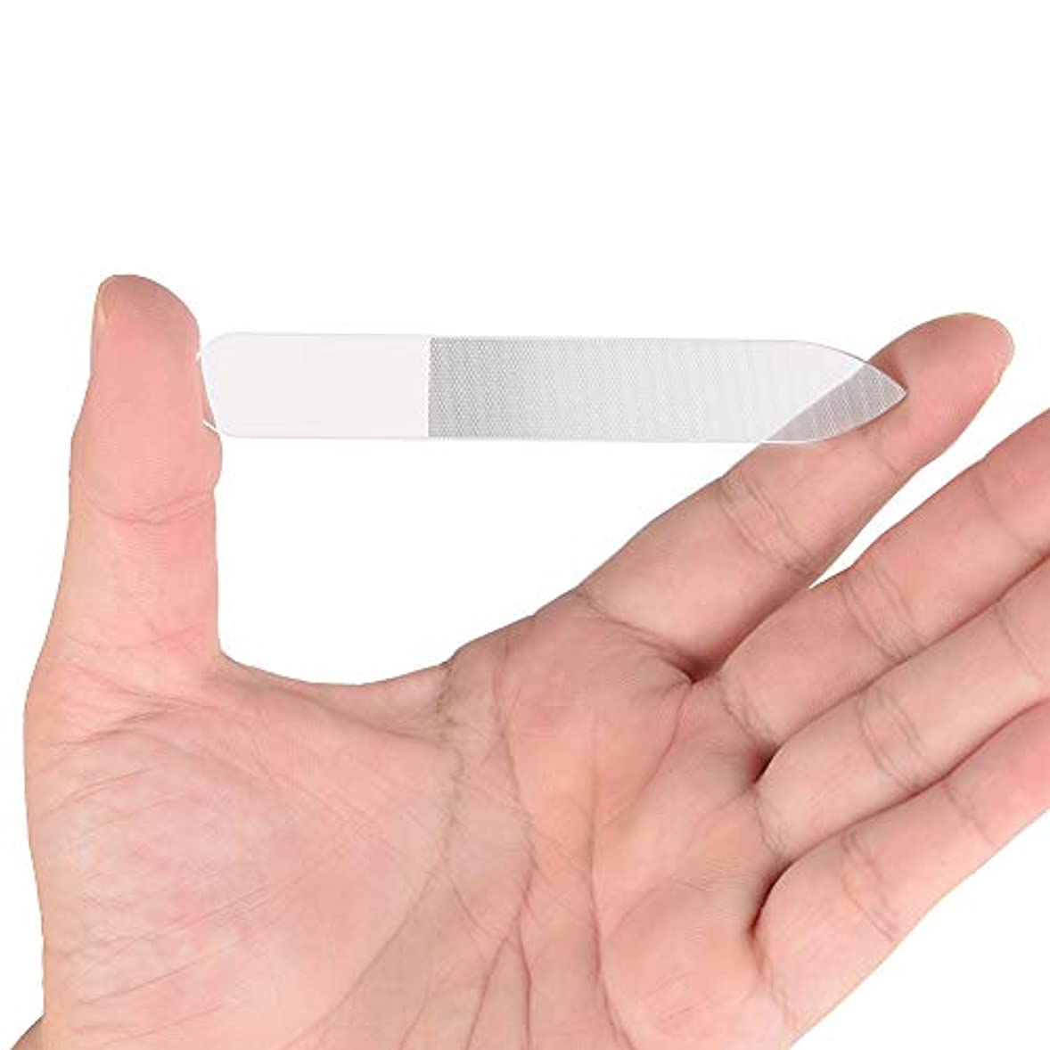 残酷な焦げところでGollust ガラス製爪やすり 持ち運びやすい 持久耐用 (1個入)