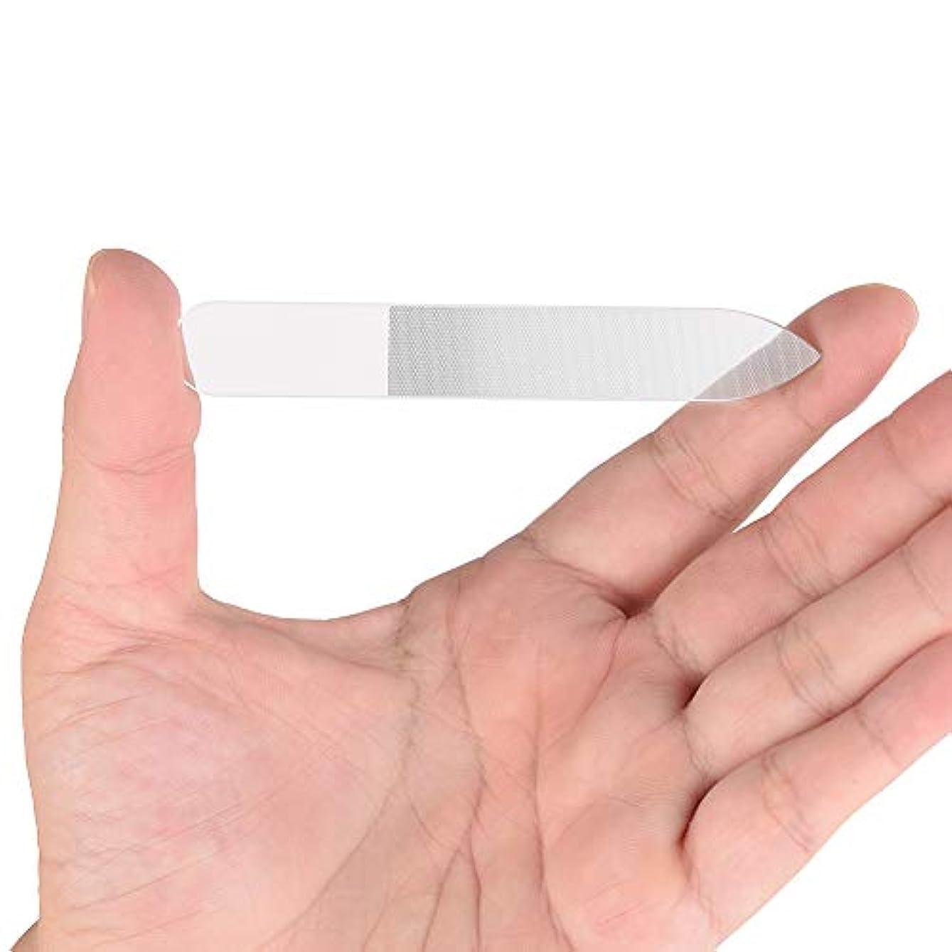 高齢者ペースト過度にGollust ガラス製爪やすり 持ち運びやすい 持久耐用 (1個入)