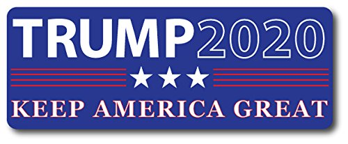 Trump 2020 Keep America Great - 3x8 Rectangle Car Magnet, Republican Party, Great for Car, Truck, SUV, Mailbox, Fridge