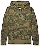 [Amazon Essentials] スウェットシャツ Hooded Fleece Sweatshirt メンズ グリーン迷彩 6X Tall