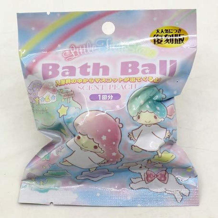気づかない小包凍るリトルツインスターズ バスボール 入浴剤 ピーチの香り 6個1セット サンリオ