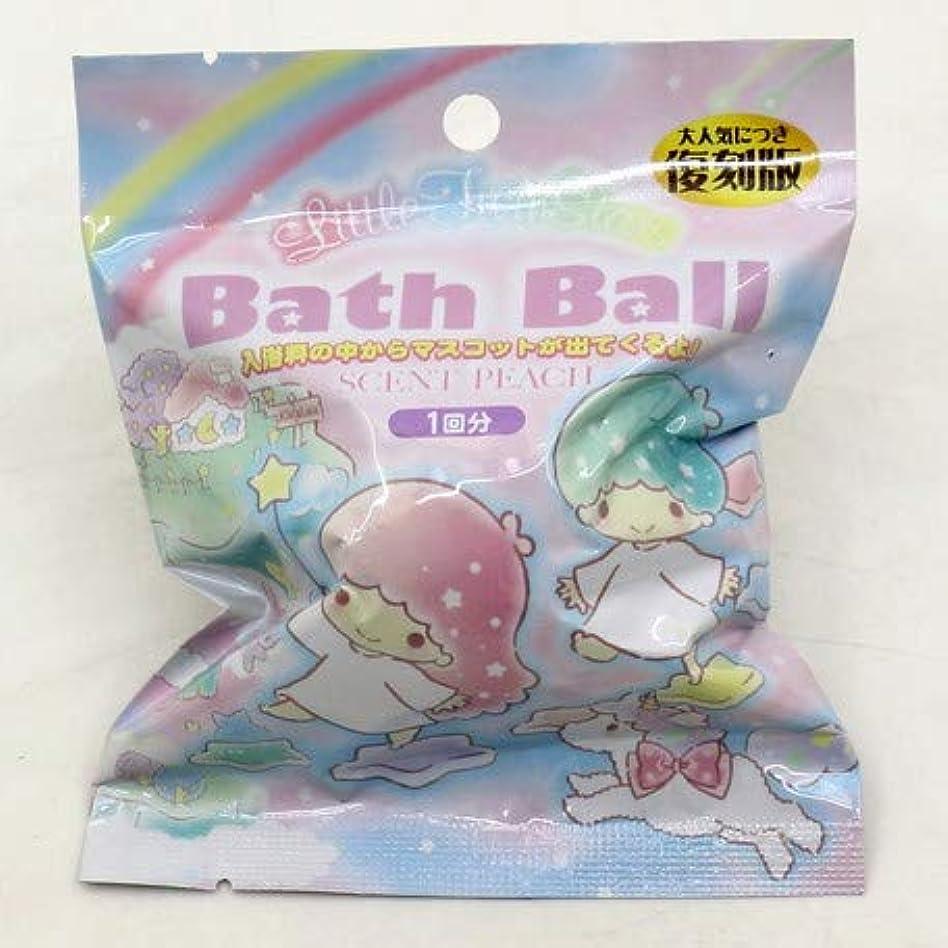 タイト近代化好きリトルツインスターズ バスボール 入浴剤 ピーチの香り 6個1セット サンリオ
