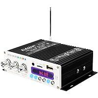 ELEGIANT Bluetooth パワーアンプ 小型 ステレオ カー バイク MP3 12V ブラック