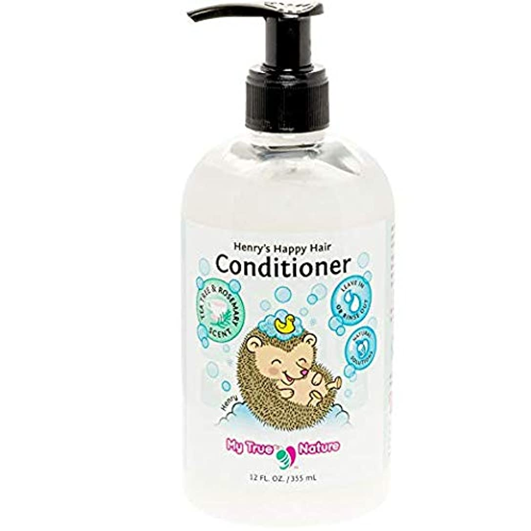 パッチ呪い魔法My True Nature Henry's Happy Hair Conditioner - Rosemary/Tea Tree - 12 oz by My True Nature
