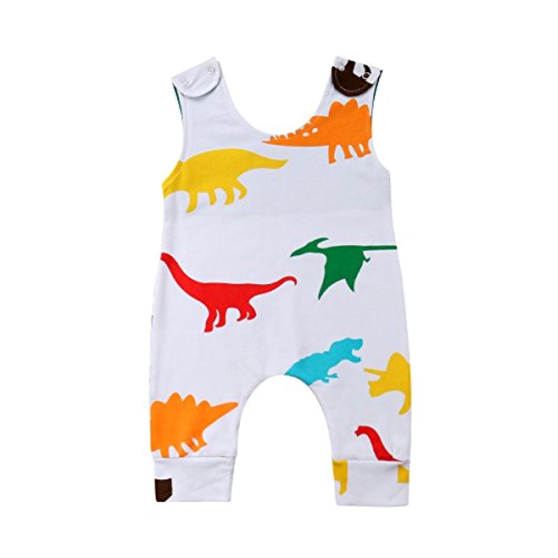 (ラランドリー) Laraandlory ベビー服 男の子 女の子 ロンパース ダイナソー スナップボタン付き 可愛い 出産祝い 誕生日 普段着 90/12-18ヶ月