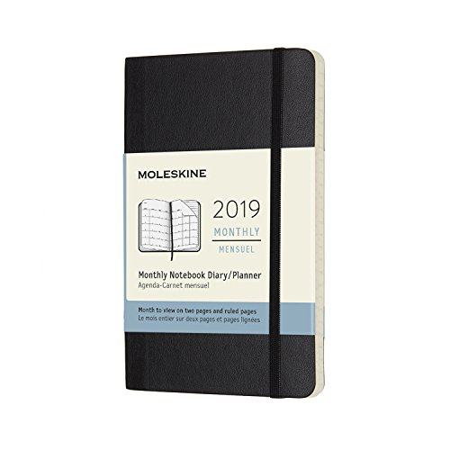 モレスキン 手帳 2019年1月始まり 12ヵ月 マンスリーダイアリー ソフトカバー ポケット ブラック DSB12MN2Y19