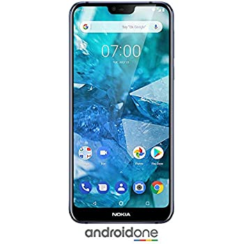 5eef8612cd Nokia 7.1 ノキア Android One (Pie) - 64 GB - 12+5 MP Dual Camera - Dual SIM  Unlocked Smartphone (at&T/T-Mobile/MetroPCS/Cricket/H2O) - 5.84