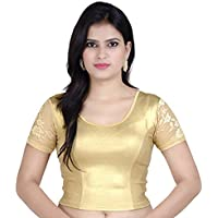 Fressia Fabrics Women's Stretchable Readymade Saree Blouse Crop Top Choli