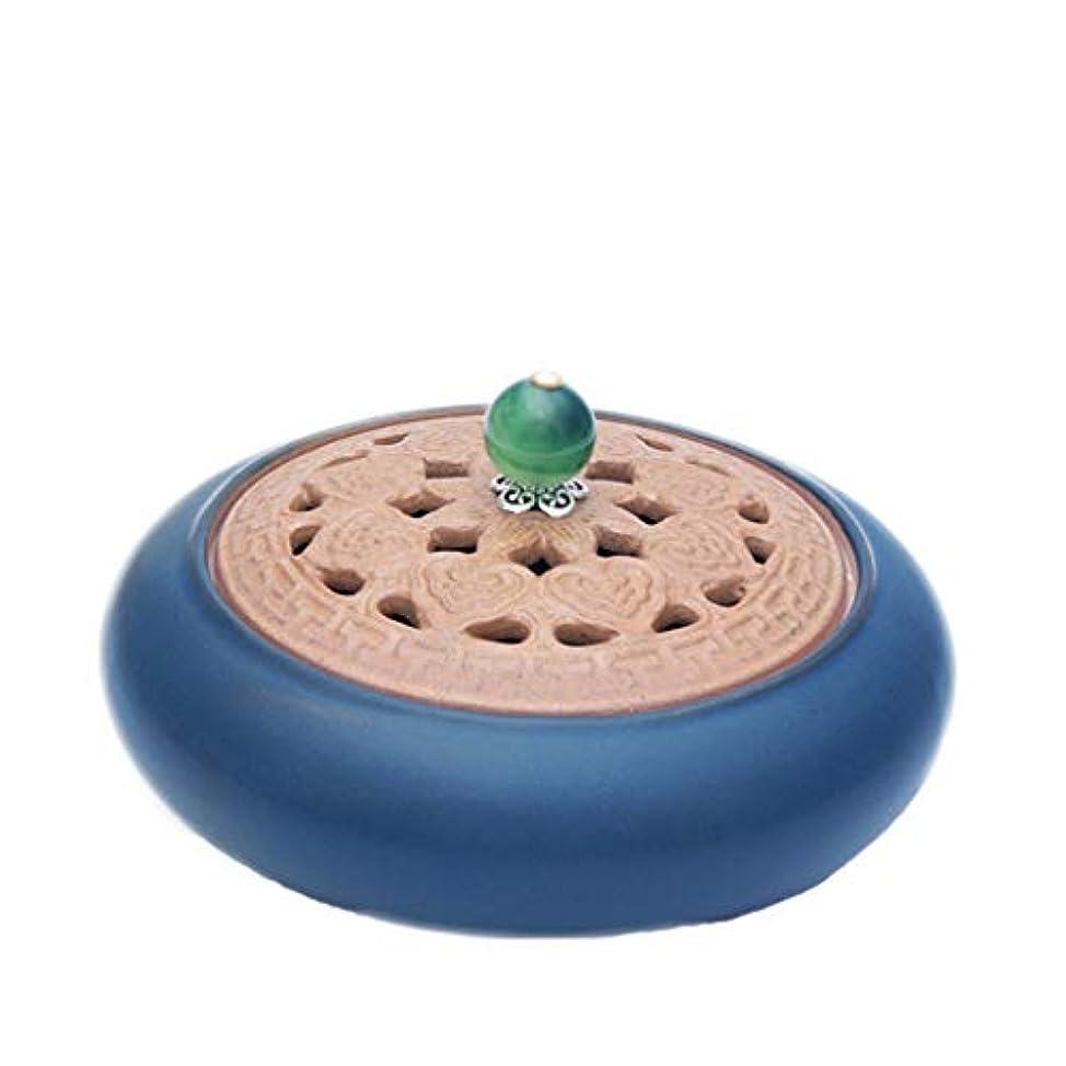 要求月曜トレイル芳香器?アロマバーナー アンティークセラミック小さな香バーナーホームインドアガーウッドハース香純粋な銅白檀炉アロマテラピー炉 アロマバーナー (Color : Green)