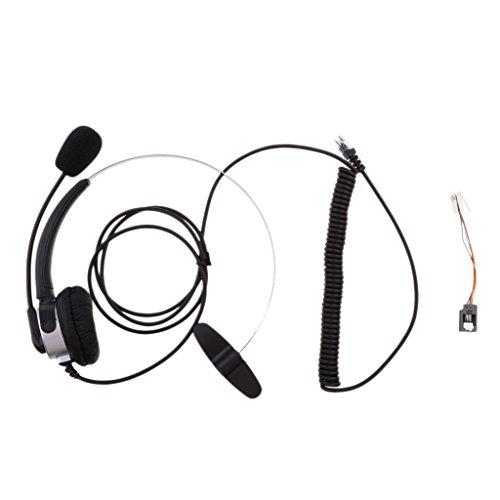 [해외]IPOTCH RJ11 핸즈프리 통화 센터 유선 전화 모노 헤드셋 실버 블랙 전 2 색/IPOTCH RJ 11 handsfree call center wired phone mono headset silver black all 2 colors