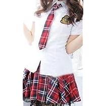 超カワイイ AKB風 制服コスプレ 清楚な 女子高生 チェック柄制服衣装 Lサイズ