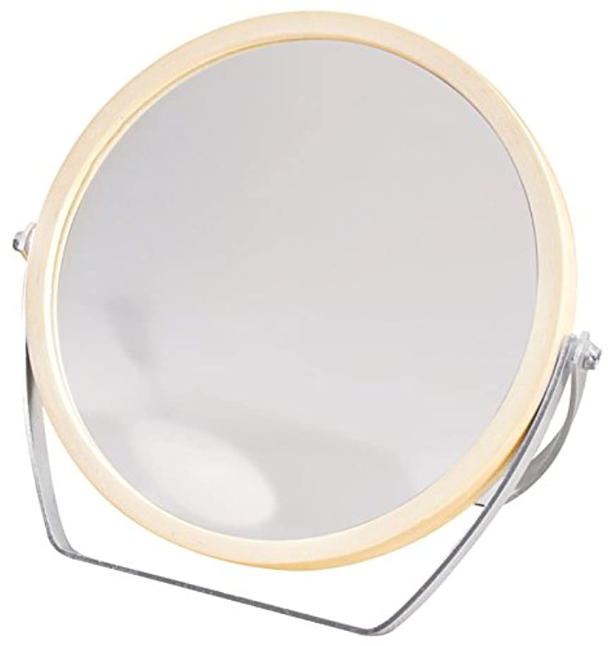 クライマックスウィザード入植者ウッドフレーム 2WAY 5倍拡大鏡付 両面 卓上ミラー (ロースタンドタイプ) ナチュラル YWM-1