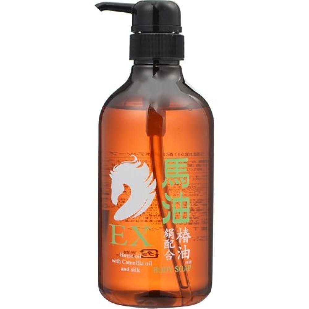 材料スポーツをする石鹸ヒロ・コーポレーション 馬油EX ボディソープ 500ml