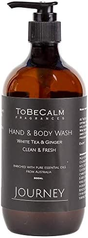 To Be Calm HBW-JOU Journey - White Tea and Ginger - Hand and Body Wash, 500 ml,Black